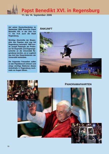 Papst Benedikt XVI. in Regensburg --- 11. bis 14. September 2006