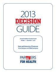 2013 Insurance Decision Guide - UTSI Human Resources