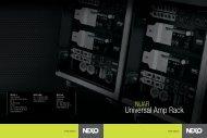 Universal Amp Rack - Nexo