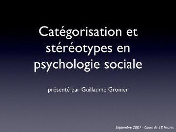 catégorisation - Guillaume Gronier