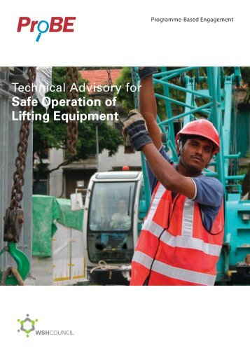 Safe Operation of Lifting Equipment - Workplace Safety and Health ...