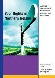 Northern Ireland Your Rights in - Law Centre NI