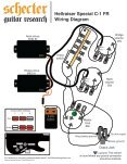 hellraiser special c 1 fr wiring diagram schecter guitars
