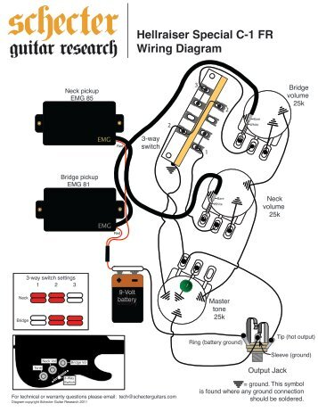 mono operation passive inhellraiser special c 1 fr wiring diagram schecter guitars