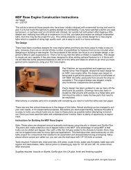 Rose Engine Construction Instructions