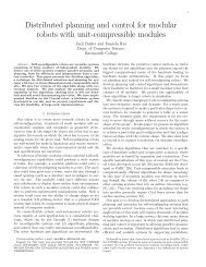 Distributed planning and control for modular robots with unit ...