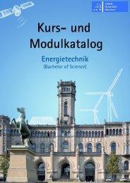 Kurs_und Modulkatalog Energietechnik - Fakultät für Elektrotechnik ...