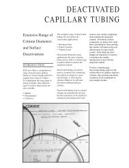 DEACTIVATED CAPILLARY TUBING - Cromlab