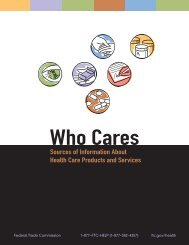 Who Cares - Federal Trade Commission