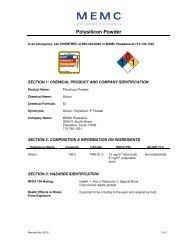 Polysilicon Powder - MEMC Electronic Materials, Inc.