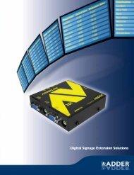 Digital Signage Extension Solutions - Techorium