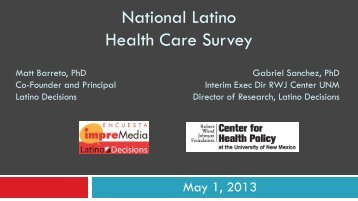 new poll of Latino/Hispanic - Latino Decisions