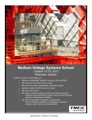 Medium Voltage Systems School - Tmeic.com