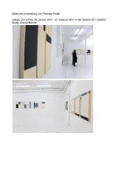 Bilder der Ausstellung von Thomas Zindel adagio con anima, 15 ...