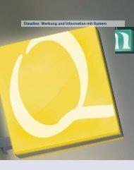 Classline: Werbung und Information mit System