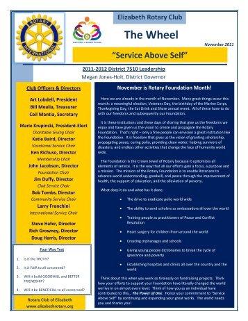 The Wheel - Elizabeth Rotary Club