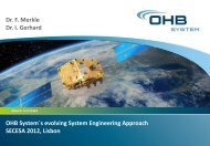 OHB System´s evolving System Engineering Approach