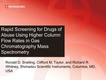 Rapid Screening for Drugs of Abuse Using Higher ... - Shimadzu