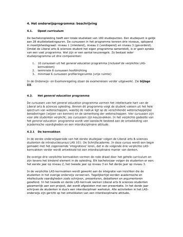Het onderwijsprogramma - Liberal Arts and Sciences - Universiteit ...