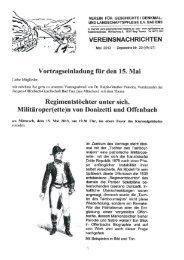Vereinsnachrichten Mai 2013 - Depesche Nr. 20 - Verein für ...