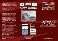 LE FRANE IN CASA - Ordine dei Geologi della Toscana