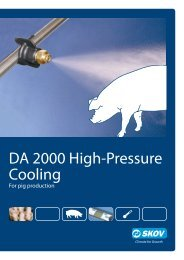 DA 2000 high-pressure cooling Pigs - Skov A/S