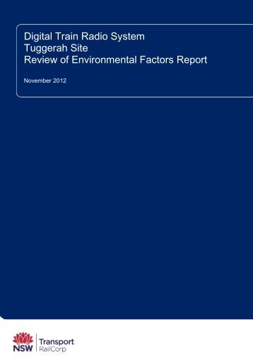 Tuggerah Site Review of Environmental Factors - Transport for NSW ...