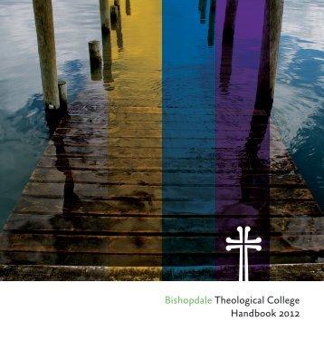 Bishopdale Theological College Handbook 2012