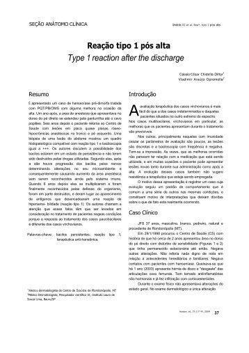 Type 1 reaction after the discharge - Instituto Lauro de Souza Lima