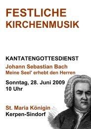 Johann Sebastian Bach (1685 – 1750) Kantate BWV 10, 1724