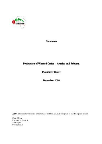Feasibility Studies for Bookstore and Coffee Shop
