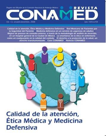 Revista CONAMED, Vol. 13, octubre - diciembre 2008