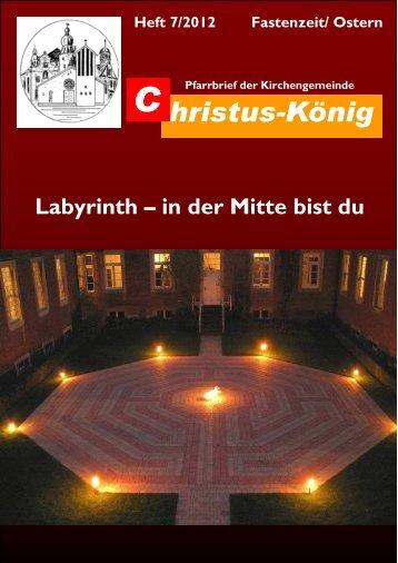 Heft 7/2012 Fastenzeit/ Ostern - Katholische Pfarrgemeinde Christus ...