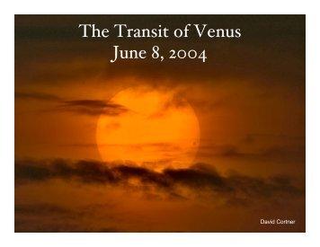 The Transit of Venus June 8, 2004 - CASS