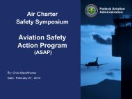 Chris MacWhorter FAA ASAP Panel - Air Charter Safety Foundation