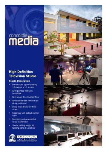 High Definition Television Studio - Concordia College