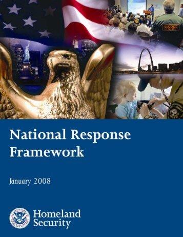National Response Framework (NRF) - State of Michigan