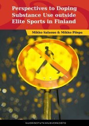 Perspectives to Doping Substance Use outside Elite Sports in Finland