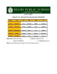 Second Term Examination 2012-2013 - Delhi Public School ...