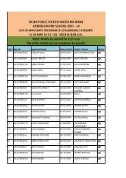 download in PDF format - Delhi Public School, Mathura Road