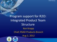 Program support for R2O: Integrated Product Team Structure