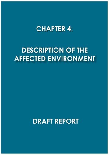 Chapter 4 - Description of the Affected Environment