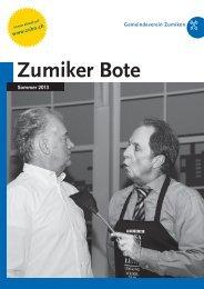 PDF – ZUBO-Broschuere – Sommer 2013 - Zumiker Bote