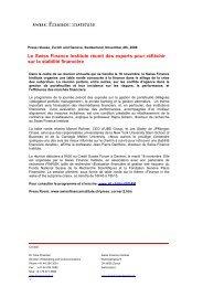 Le Swiss Finance Institute réunit des experts pour réfléchir sur la ...