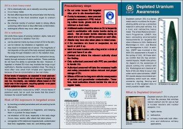 Depleted Uranium Awareness - UNEP