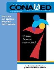 01 800 711 0658 Correo electrónico: revista@conamed.gob.mx