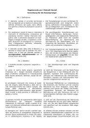 Verordnung für die Sozialsprengel Bozen. - Betrieb für Sozialdienste ...
