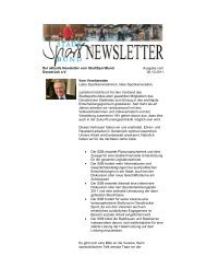 Newsletter vom StadtSportBund Osnabrück e.V.