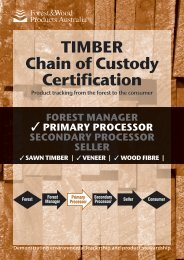TimBer Chain of Custody Certification