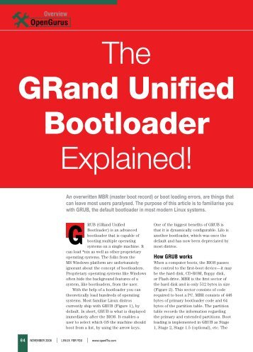 Grand Unified Boot Loader Explained - Sarath Lakshman